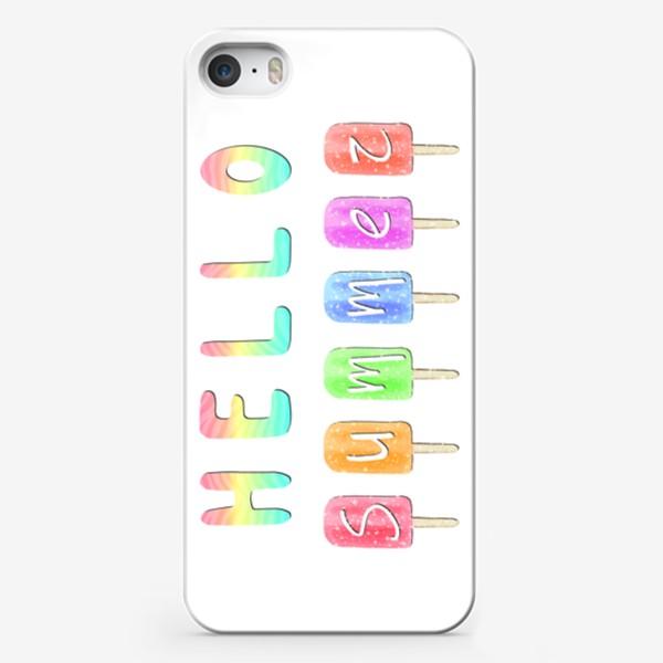 """Чехол iPhone «Мороженое """"Лето, привет!""""»"""