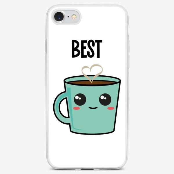 Чехол iPhone «Кофе и пончик. Парные принты»