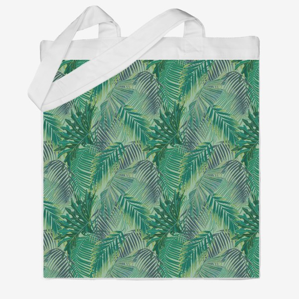 Сумка хб «зеленые  тропики»