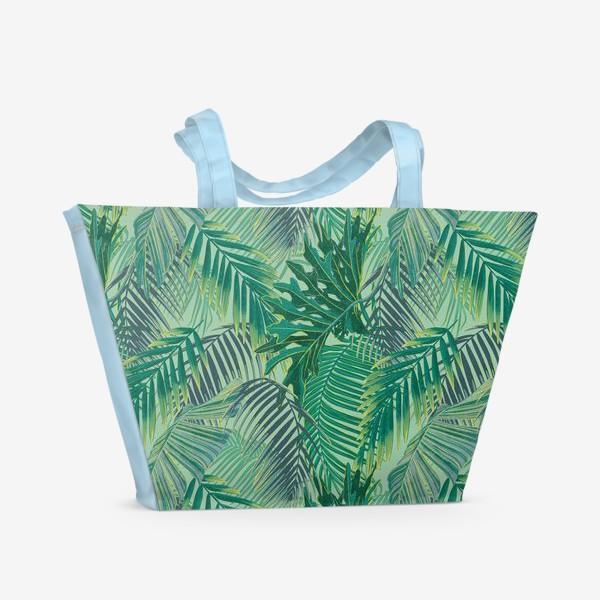 Пляжная сумка «зеленые  тропики»