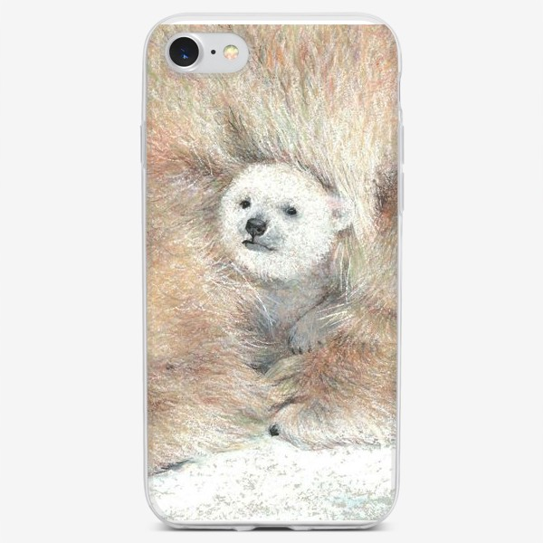 Чехол iPhone «Умка белый медвежонок»