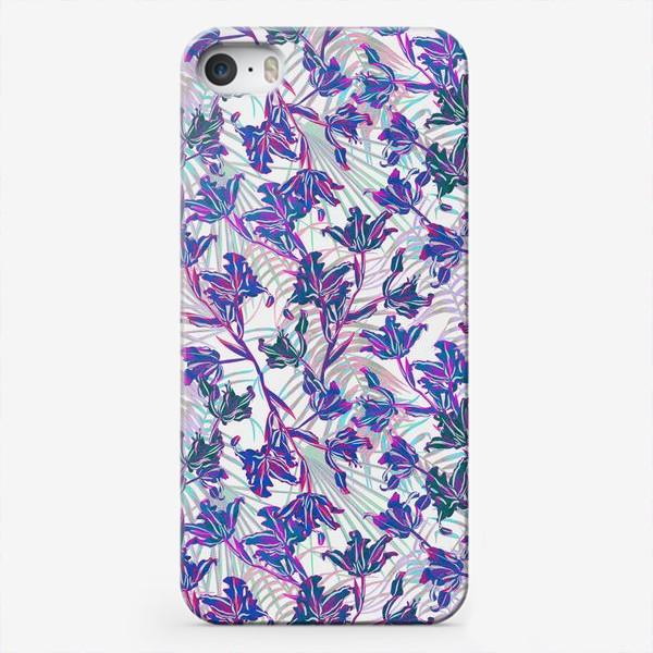 Чехол iPhone «Неоновые орхидеи»