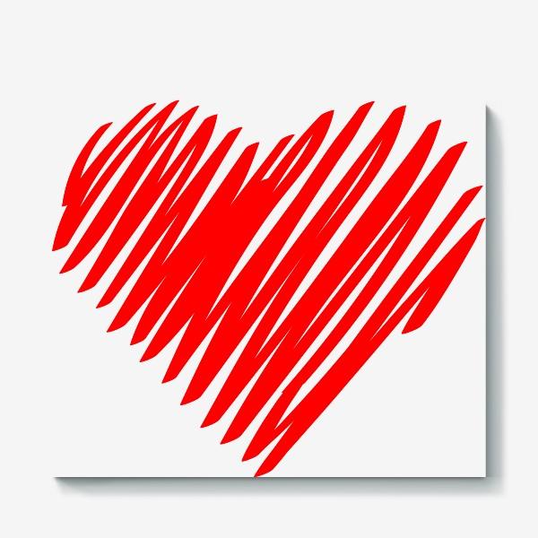 Холст «Красное сердце»