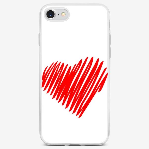 Чехол iPhone «Красное сердце»