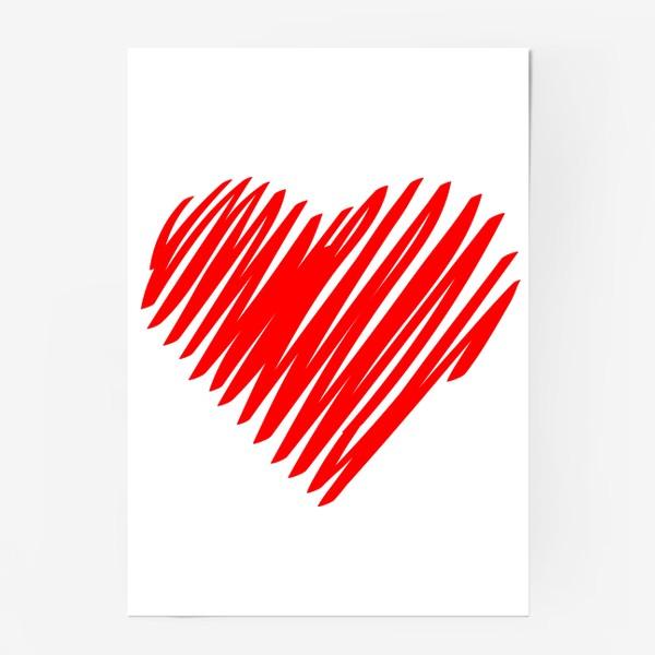 Постер «Красное сердце»