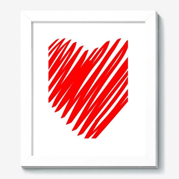 Картина «Красное сердце»