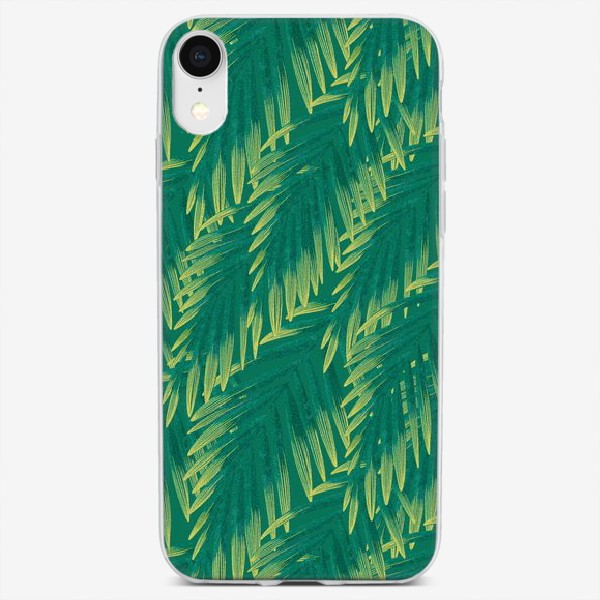 Чехол iPhone «Зеленые  тропики»