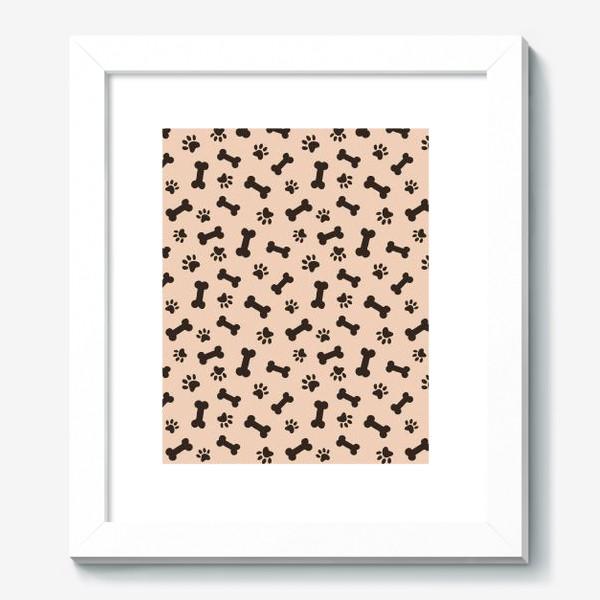 Картина «Отпечатки лапок и косточки, домашние животные»