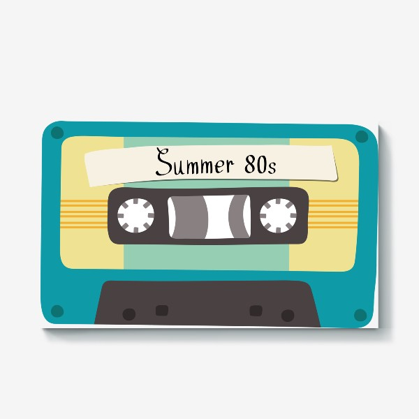 "Холст «Ретро кассета с надписью ""Summer 80s""»"