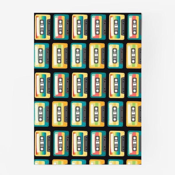 Постер «Ретро кассеты на черном фоне»