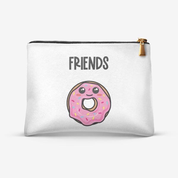 Косметичка «Кофе и пончик. Парные принты»