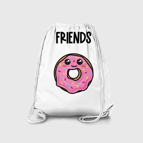 Рюкзак «Кофе и пончик. Парные принты»