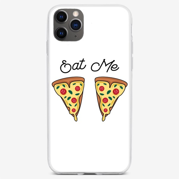 Чехол iPhone «Пицца. Eat me. Pizza»