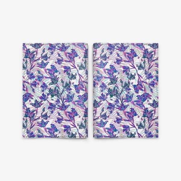 Обложка для паспорта «Неоновые орхидеи»