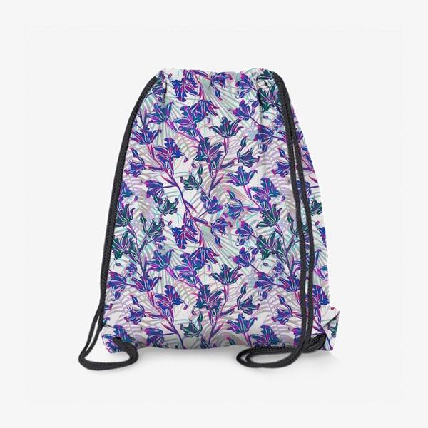Рюкзак «Неоновые орхидеи»
