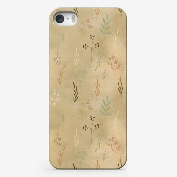 Чехол iPhone «Растения. Веточки.»