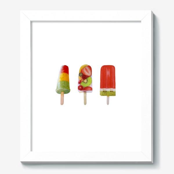 Картина «Фруктовое мороженое на палочке»
