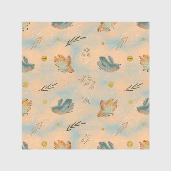 Скатерть «Птицы. Паттерн с текстурой.»