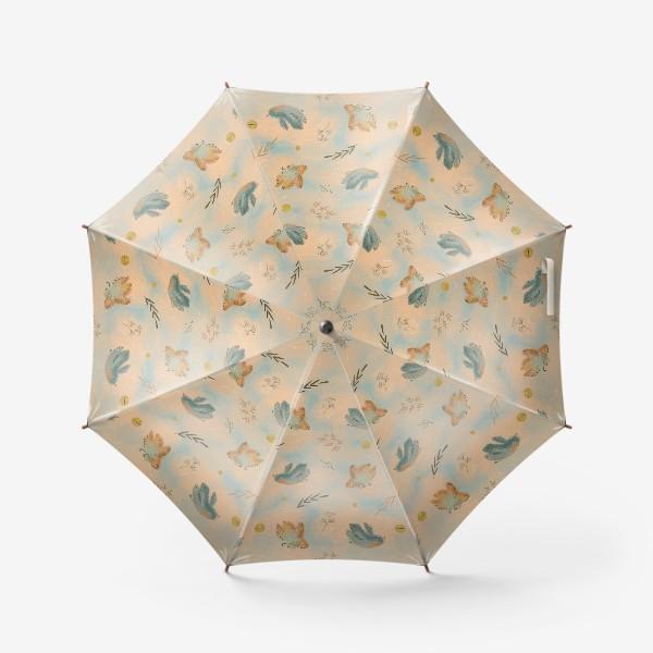 Зонт «Птицы. Паттерн с текстурой.»