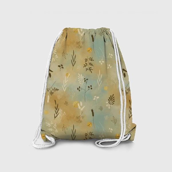 Рюкзак «Растения. Веточки. Золотые элементы. »