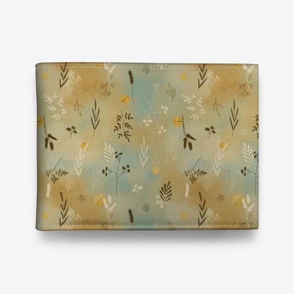 Кошелек «Растения. Веточки. Золотые элементы. »