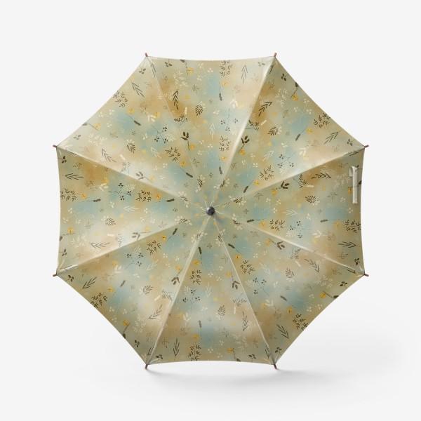Зонт «Растения. Веточки. Золотые элементы. »
