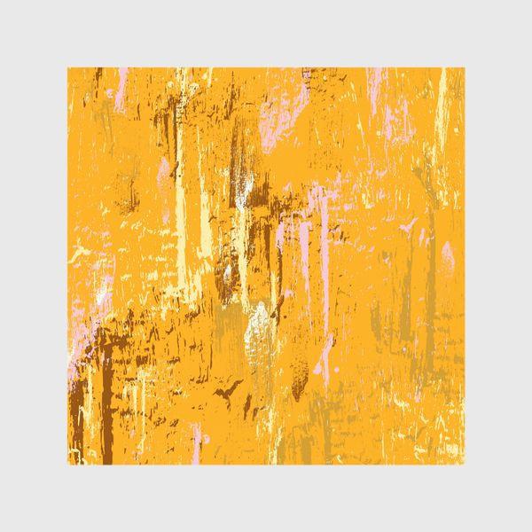 Шторы «мазки краски, оранжевый»