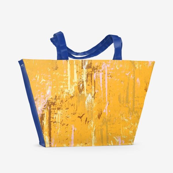 Пляжная сумка «мазки краски, оранжевый»