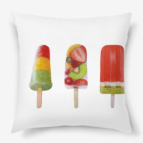 Подушка «Фруктовое мороженое на палочке»