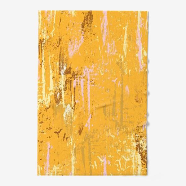 Полотенце «мазки краски, оранжевый»