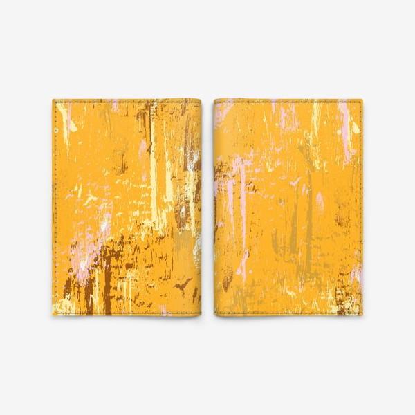 Обложка для паспорта «мазки краски, оранжевый»