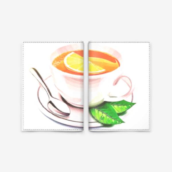 Обложка для паспорта «Английский завтрак (Без фона) Утренний фрэш. Заряд бодрости. Доброе утро. »
