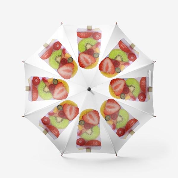 Зонт «Фруктовое мороженое на палочке»