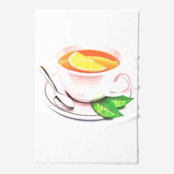 Полотенце «Английский завтрак (Без фона) Утренний фрэш. Заряд бодрости. Доброе утро. »