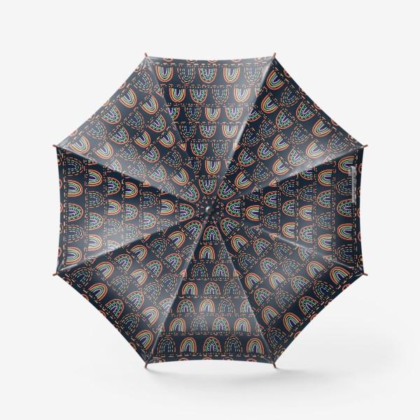 Зонт «Орнамент из абстрактных радуг »