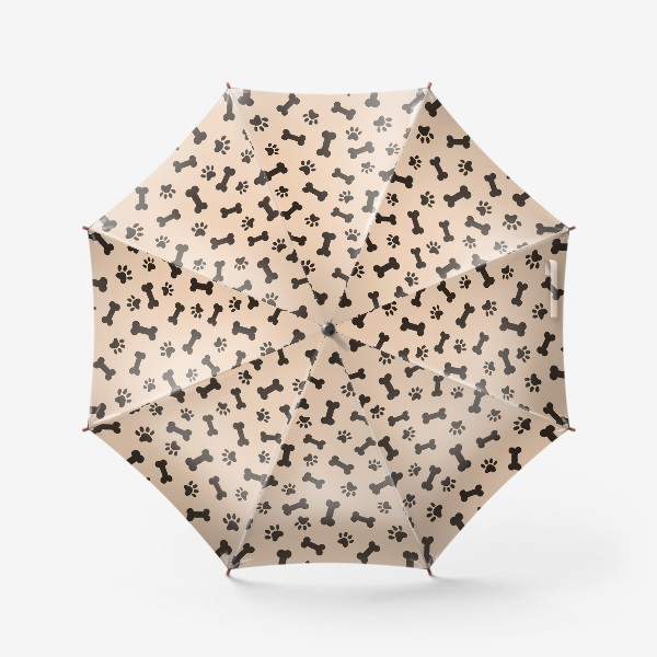 Зонт «Отпечатки лапок и косточки, домашние животные»