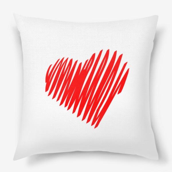 Подушка «Красное сердце»