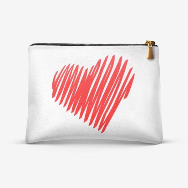 Косметичка «Красное сердце»
