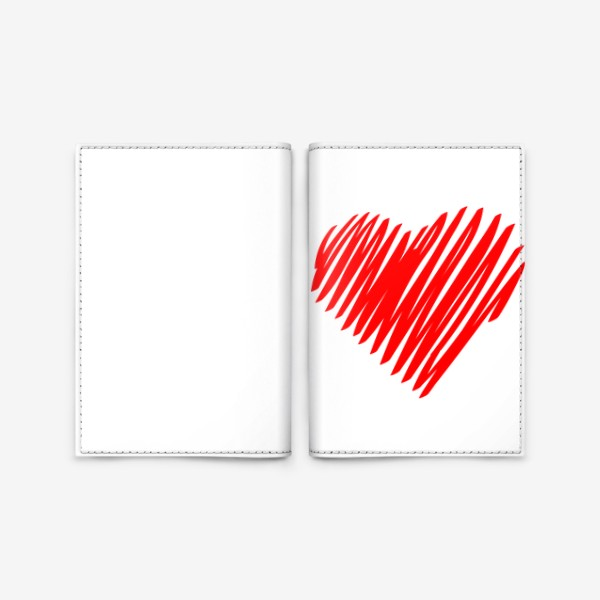 Обложка для паспорта «Красное сердце»