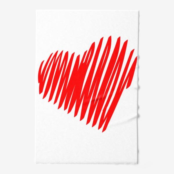 Полотенце «Красное сердце»