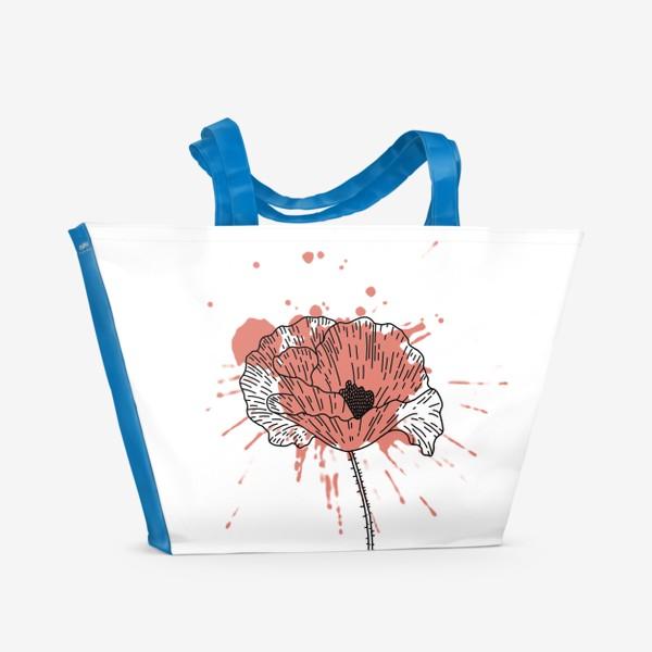 Пляжная сумка «Мак. Брызги.»