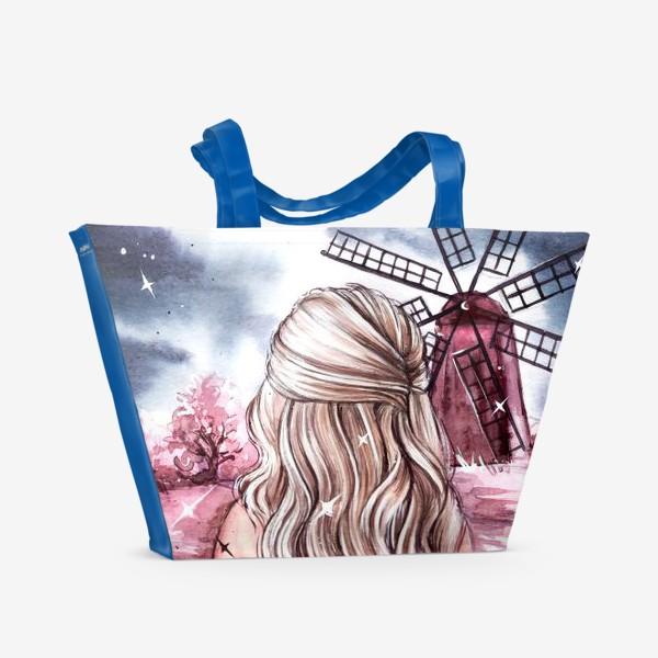 Пляжная сумка «розовый мир»