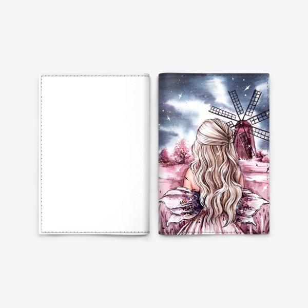 Обложка для паспорта «розовый мир»