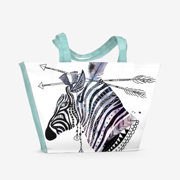 Пляжная сумка «Этно зебра»