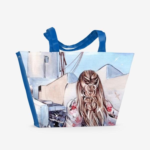 Пляжная сумка «лето на Санторини»