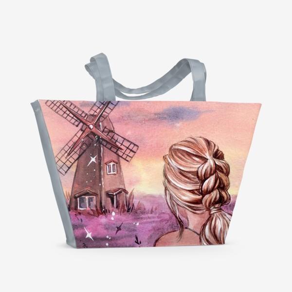 Пляжная сумка «на закате...»
