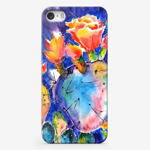 Чехол iPhone «кактус яркий принт цветок»