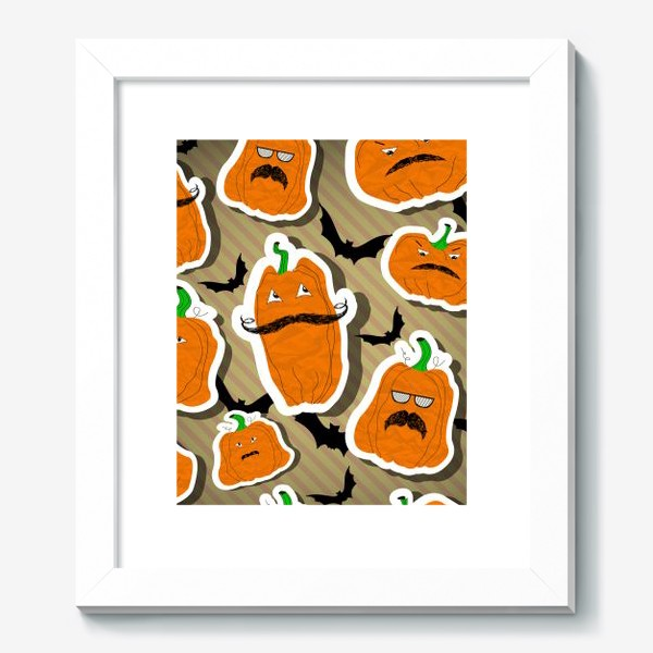 Картина «Хеллоуин. Тыква. Летучая мышь.»