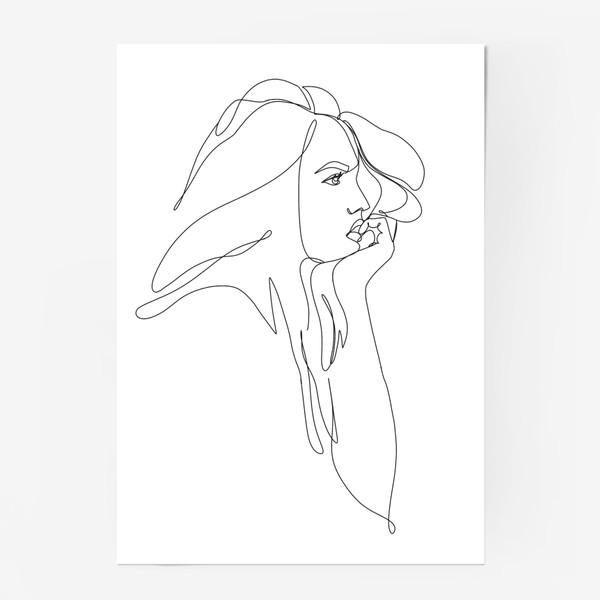 Постер «Девушка, профиль, монолиния»
