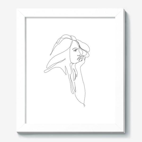 Картина «Девушка, профиль, монолиния»